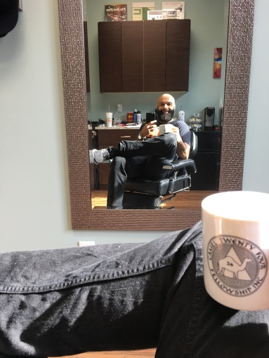 A barber and his coffee...